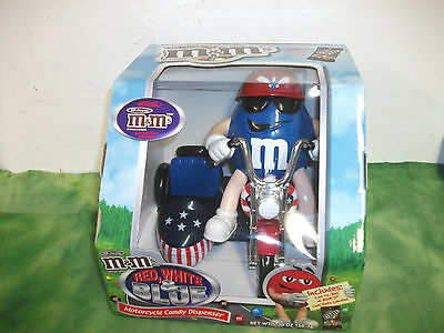 M&M's    Motorcycle  Candy Dispenser  ( Blue )