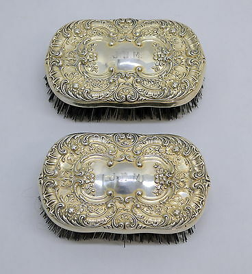"Vintage Gorham Sterling Silver ""Buttercup"" Repousse Clothing Brush"