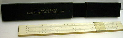 Vintage Side Rule, A W FABER'S Calculating Rule For School Use