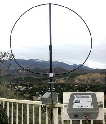 W6LVP Amplified Receive-Only Mag Loop Antenna - With Power Inserter
