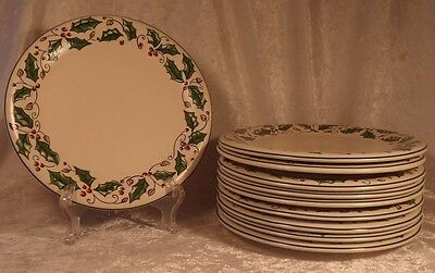 """Set of 10 Holly Holiday China HHD4 Luncheon or Salad Plate 8 3/4"""""""