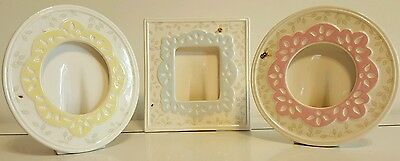 """3 Piece Set Lenox Photo Frames Butterfly Meadow Collection 6""""x5"""""""