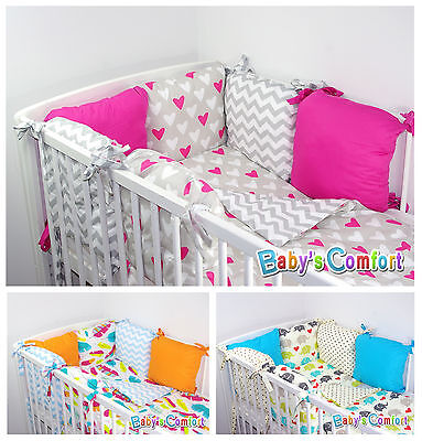 Baby's Comfort PILLOW BUMPER made of 6 cushions for cot & cotbed
