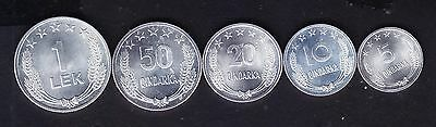 1964 Albanian Coins, 1st edition made in China, UNC.