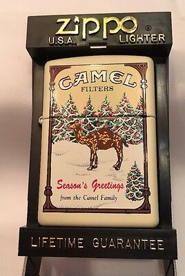 Zippo Lighter Camel Filters Season's Greetings from Camel Family F 1997