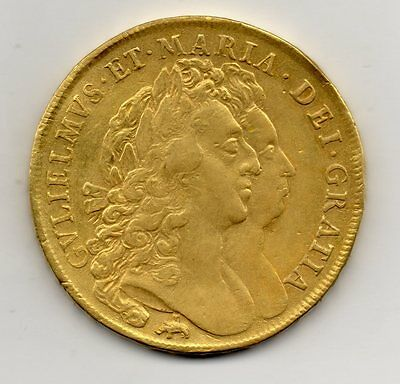1691 Five Guinea, William And Mary, Elephant And Castle