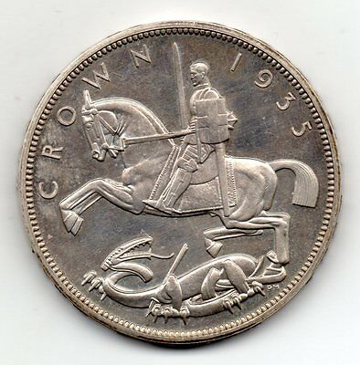 1935 Crown, Proof, George V Bare Head, Only 2500 Minted