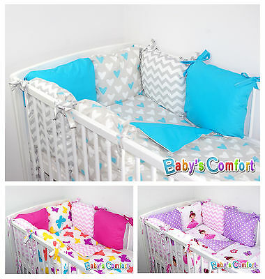 Baby's Comfort 10 PCS BABY BEDDING with PILLOW BUMPER for cot / cotbed