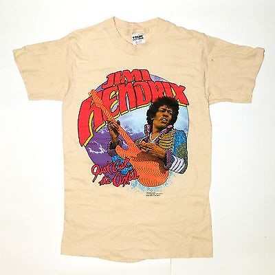 Vintage Original Jimi Hendrix Just Ask The Axis shirt 1982 M
