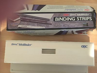 GBC Personal Velobinder Binder with approx. 45 binding strips for upto 25 sheets
