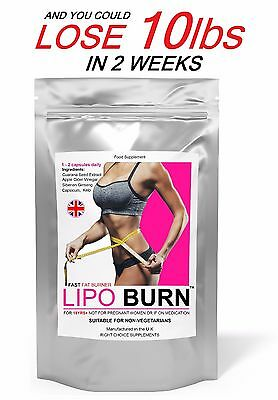 Lipo Burn Weight Loss Slimming Pills Fast Fat Burners Very Strong Diet Tablets
