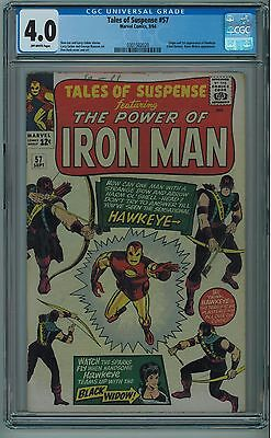 Tales Of Suspense #57 Cgc 4.0 1St Hawkeye Off-White Pages 1964