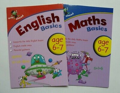 Letts Make it Easy English & Maths Workbooks, Children Age 6-7 KS1 Year 1, New