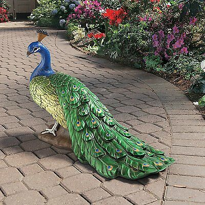 DB20191 - The Regal Peacock Garden Statue - Large