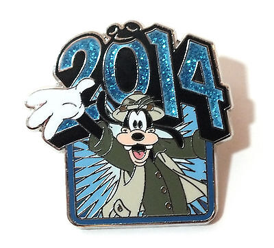 Disney Pin Trading 2014 Goofy Year Blue Glitter Safari Jungle Cruise Costume