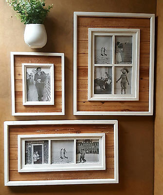 NEW Gallery Collage Vintage Timber Photo Frames set  - 5108 Home decor, gift