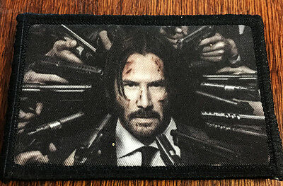 John Wick 2 Morale Patch Tactical Military Army Badge Hook Flag Badge USA