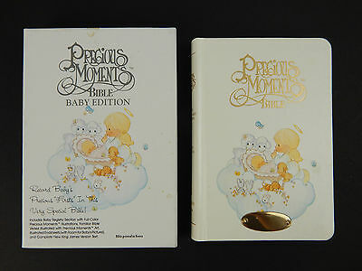 NEW Precious Moments Bible Baby Edition King James Brass Personalizing Plate