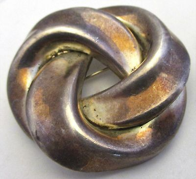 MEXICO TAXCO Sterling Silver Knot Brooch TD-82