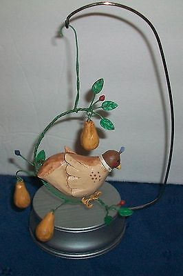 Beautiful Partridge in a Pear Tree Christmas Ornament Free Shipping