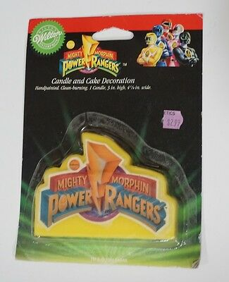 RARE Vintage 1994 Saban Mighty Morphin Power Rangers Cake Candle *NEW* Sealed