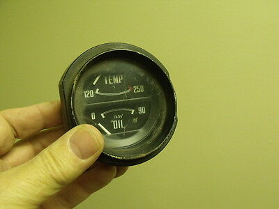 Fiat  850 Spider  dash oil & temperature gauge   microcar
