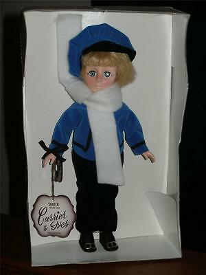 "EFFANBEE 11"" CURRIER & IVES DOLL  - BOY - SKATER -  w/ TAGS MADE IN THE U.S.A"