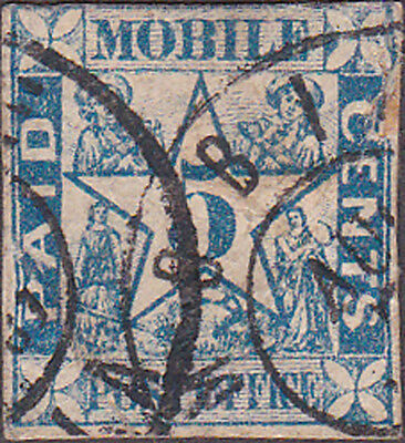 Mobile Confederate Postmaster Provisional 58x1 Five Cent Stamp