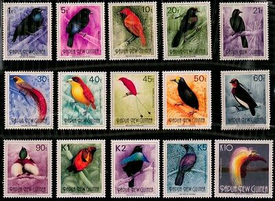 PNG 1991 - 'Birds of Paradise' Set of 15 Stamps (PNG636-50)