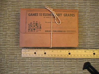 Games for the Elementary School Grades VTG Teacher Resource Cards Recess PE 1948