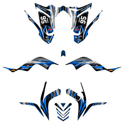 Yamaha Raptor 700 graphics 2006-12 full coverage #1900 Blue