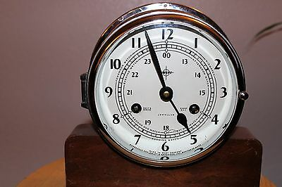 Swift Mariner Nautical Ship Clock Vintage made by Shatz & Sohne of Germany