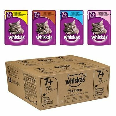 Whiskas 7+ Cat Pouches in Jelly - 84 x 100g Pouches