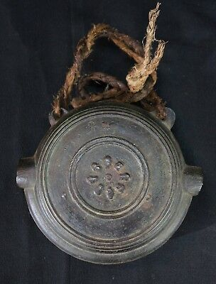 Antique Japanese bronze Dora Gong bell made with lost wax craft 1800