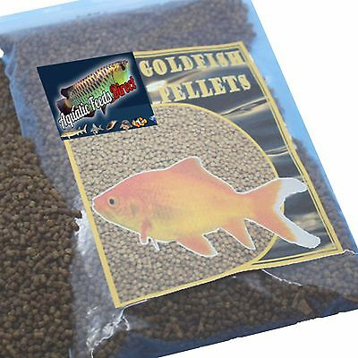 Premium grade goldfish feed pellets for pond or tank sinking fish food