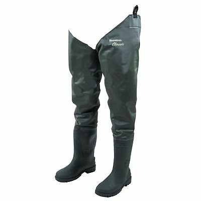 Snowbee Nylon/PVC Thigh Waders - Cleated Sole Size 8 Fly Fishing