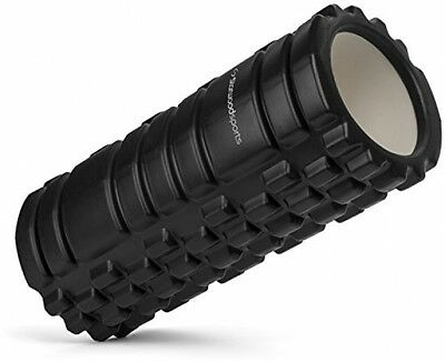 Muscle Foam Roller Deep Tissue Massage Myofascial Trigger Point Therapy, Black