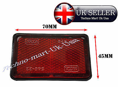 Royal Enfield Motorcycle Rear Number Plate Red Reflex Reflector @uk