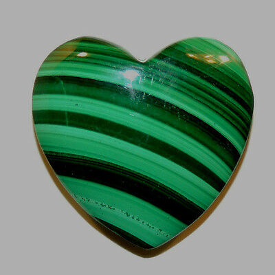 Malachite Heart 28x29mm with 9mm thick drilled hole in top (11760)