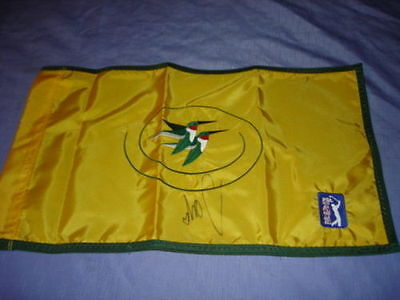 The International pin flag at Castle Pines Golf Club signed by Sergio Garcia pga