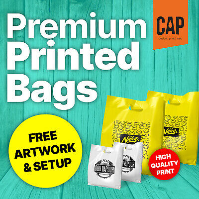 Carrier Bag Printing, Personalised White Carrier Bags Printed With Your Messages