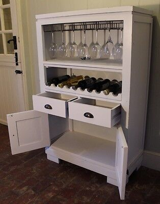 Kitchen Unit Wine Bottle Wrack And Glass Storage With Cupboard Bar *DELIVERY*