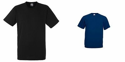 Fruit Of The Loom Super Premium Mens Cotton T Shirt Workwear Work 3 Pack 2 Cols