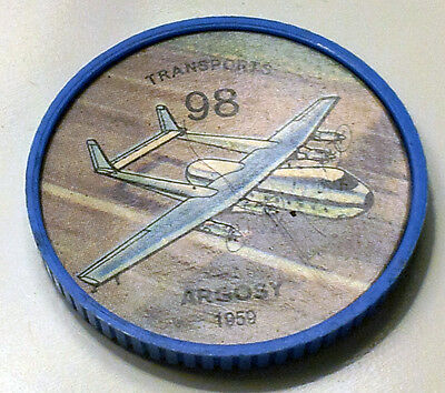 Vintage Jell-O / Hostess Collectors Airplane Transport Coins - #98 Argosy