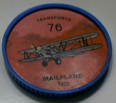 Vintage Jell-O / Hostess Collectors Airplane Transport Coins - #76 Mailplane