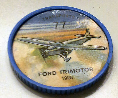 Vintage Jell-O / Hostess Collectors Airplane Transport Coins - Ford Trimotor #77