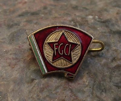 Italian Communist Youth Organisation FGCI Political Party Italy Pin Badge