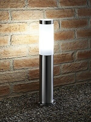 Auraglow Stainless Steel Outdoor Garden Path Post Light - 5w LED Bulb Included