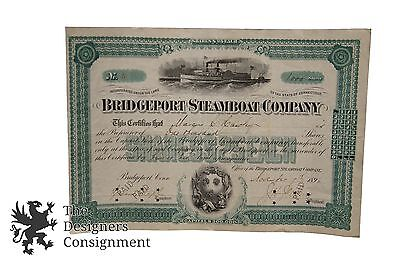 Antique Stock Certificate Bridgeport Steamboat Company 1896 1000 Shares