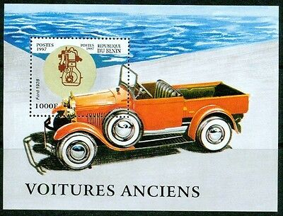 Benin - 1997 – Antique Cars – S/s Vf  **